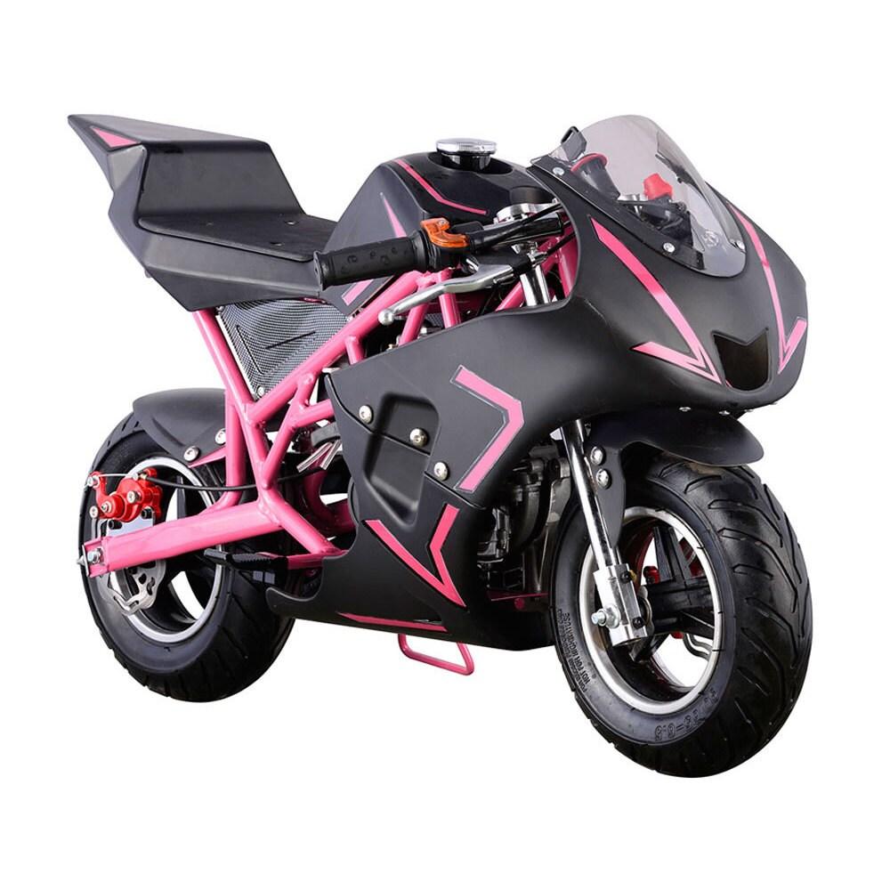 MotoTec Pink Cali 40cc Gas Pocket Bike (Pink)