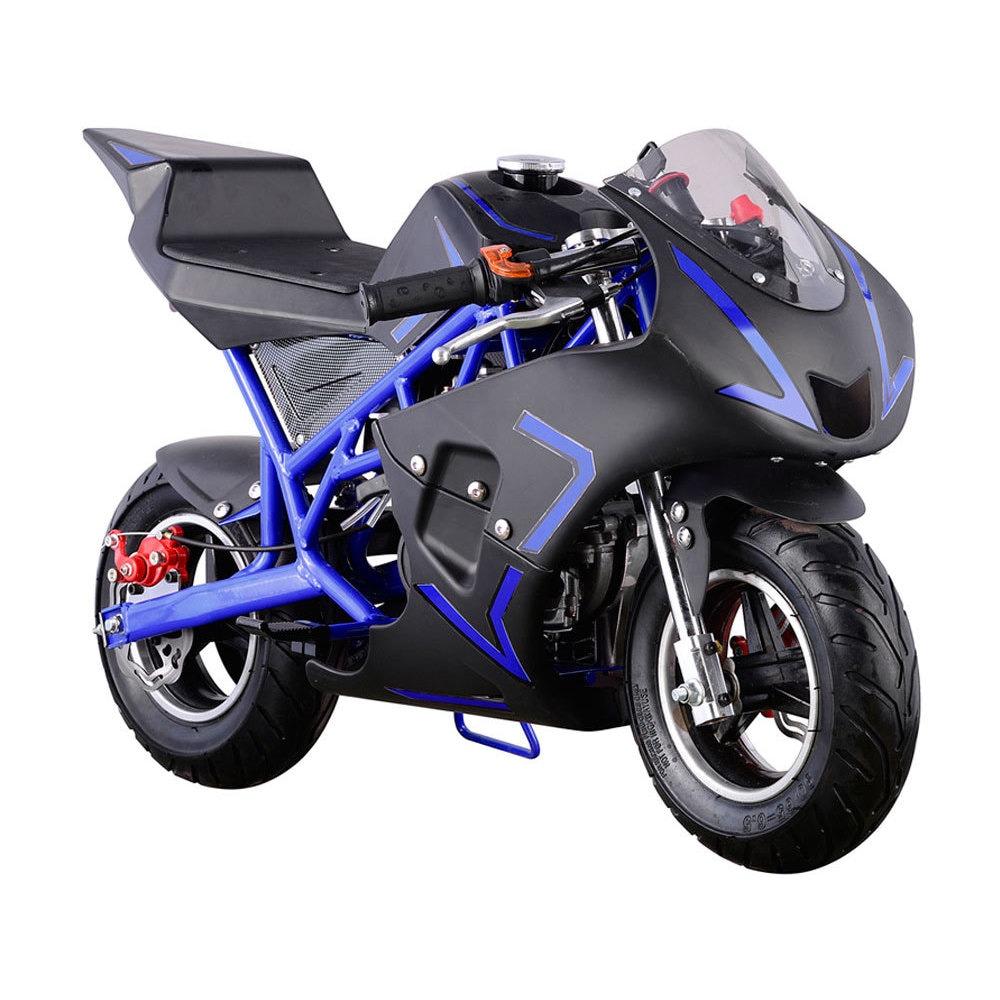 MotoTec Cali Blue 40cc Gas Pocket Bike (Blue)