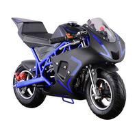 MotoTec Cali Blue 40cc Gas Pocket Bike