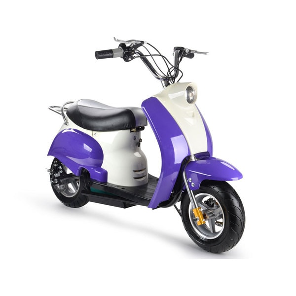 MotoTec Purple 24v Electric Moped