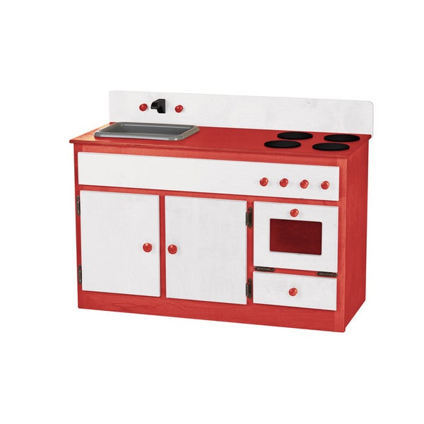 Children's REAL WOOD Play Kitchen Sink/Stove Combo