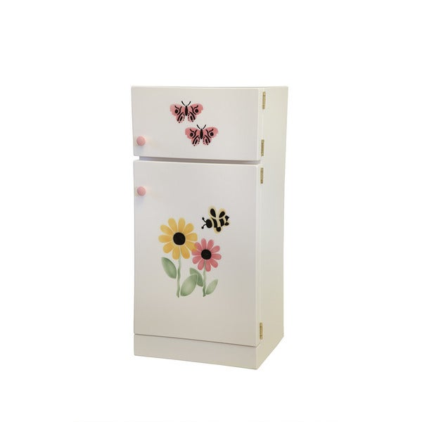 Child's Play Refrigerator White with Stencil