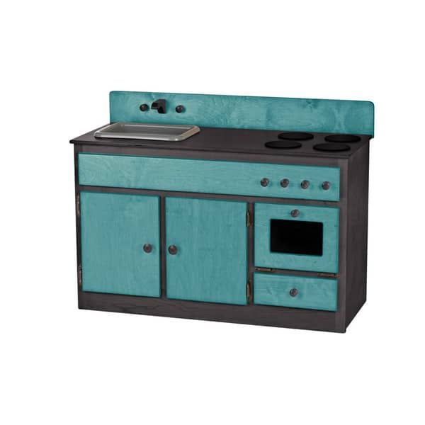 Shop Children\'s REAL WOOD Play Kitchen Sink/Stove Combo ...