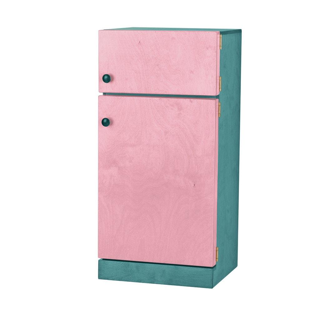 Children's Real Wood Play Refrigerator/Freezer Combo (Gra...