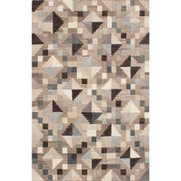 ECARPETGALLERY Tribeca Grey  Wool Kilim (5'0 x 8'0) - 5'0 x 8'0