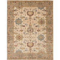 ECARPETGALLERY Hand-knotted Jules Serapi Ivory Wool Rug - 8'0 x 9'9