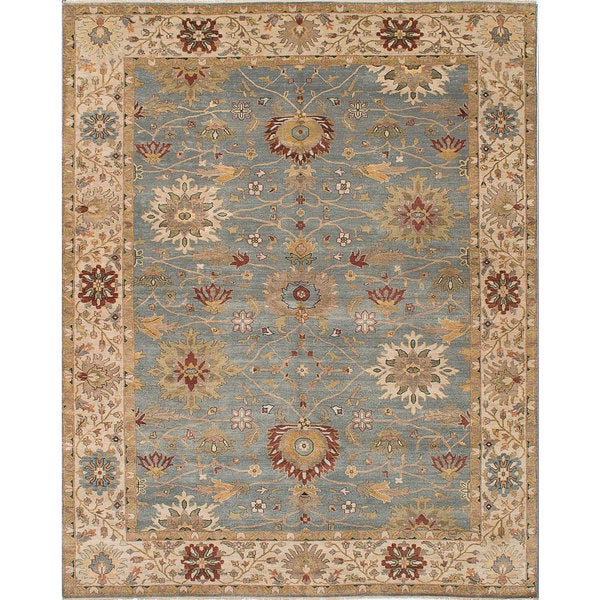 ECARPETGALLERY Hand-knotted Jules Serapi Slate Blue Wool Rug - 8'0 x 9'10