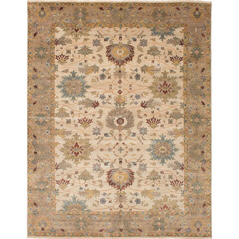 ecarpetgallery Heirloom Ivory Wool Rug - 10'0 x 13'9