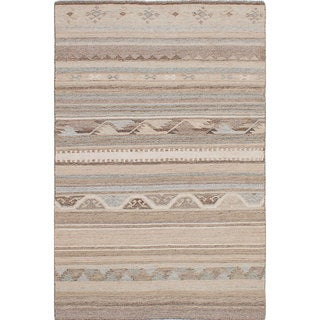 ecarpetgallery Tribeca Ivory Wool Kilim (5'0 x 8'0)