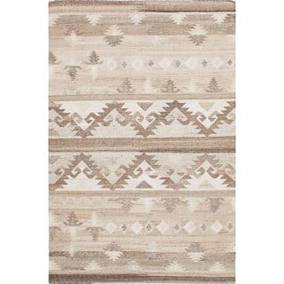 ecarpetgallery Tribeca Brown, Ivory Wool Kilim (8'0 x 10'0)|https://ak1.ostkcdn.com/images/products/13468089/P20155660.jpg?impolicy=medium