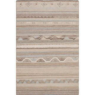 ecarpetgallery Tribeca Ivory Wool Kilim (8'0 x 10'0)