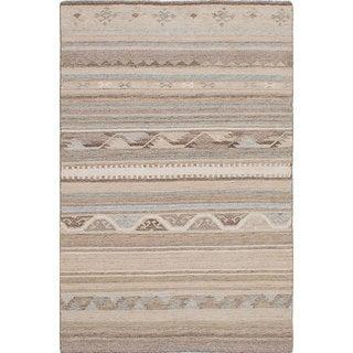 ecarpetgallery Tribeca Ivory Wool Kilim Rug - 8'0 x 10'0