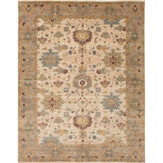 ECARPETGALLERY Hand-knotted Jules Serapi Ivory Wool Rug - 9'0 x 11'8