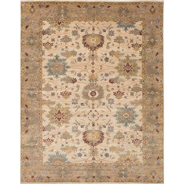 ecarpetgallery Heirloom Ivory Wool Rug (9'0 x 11'8)