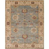 ecarpetgallery Heirloom Blue  Wool Rug (9'0 x 11'8)
