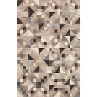 ecarpetgallery Tribeca Grey Wool Kilim Rug - 8'0 x 10'0