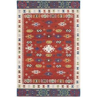 ecarpetgallery Antalya Red Wool Kilim (8'0 x 10'0)