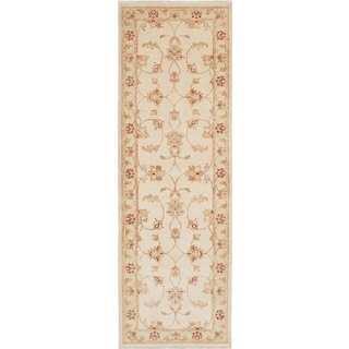 ecarpetgallery Chubi Collection Ivory Wool Rug (2'7 x 7'11)