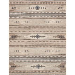 ecarpetgallery Tribeca Ivory Wool Kilim (4'0 x 6'0)
