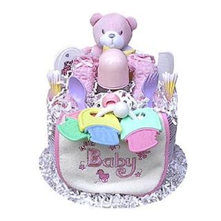 Multicolored Cotton Girl's 1-tier Diaper Cake