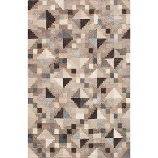 ecarpetgallery Tribeca Grey  Wool Kilim (4'0 x 6'0)