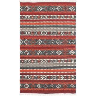 ecarpetgallery Adana Red Wool Kilim (4'0 x 6'0)