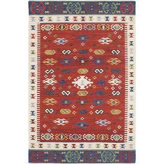 ecarpetgallery Antalya Red Wool Kilim (4'0 x 6'0)|https://ak1.ostkcdn.com/images/products/13468180/P20155739.jpg?impolicy=medium