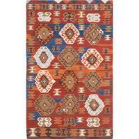 ecarpetgallery Antalya Red Wool Kilim Rug
