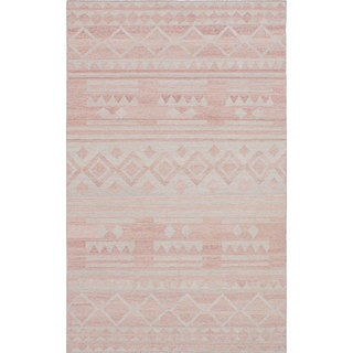 ecarpetgallery Copper and Grey Wool Kilim Rug - 8'0 x 10'0