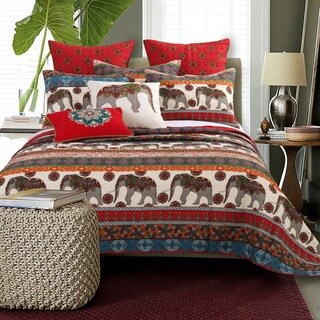 Barefoot Bungalow Kandula Desert Elephant 3-piece Quilt Set