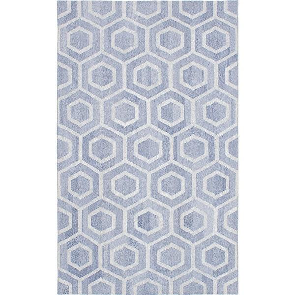 ECARPETGALLERY Flat-weave Tribeca M34427 Dark Violet Wool Kilim - 8'0 x 10'0