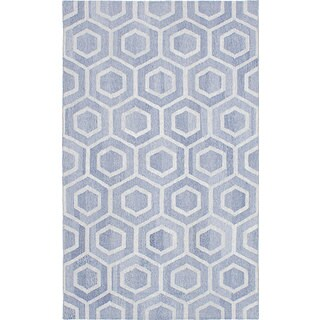 ecarpetgallery Tribeca Blue Wool Kilim (5'0 x 8'0)
