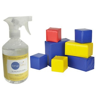 Karma Baby Plastic Toddler Block Set and 16-ounce Natural Cleaner Kit