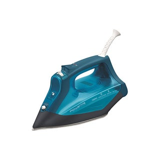 Rowenta DW3180 Steamcare Iron + Stainless Steel 350-Hole Soleplate (Blue)