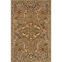 Hand-hooked Owen Grey/ Multi Wool Rug (3'6 x 5'6) - 3'6 x 5'6
