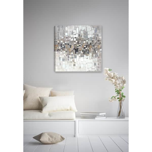 Grey Abstract Canvas Wall Art Decor Beige Brown For Home Office Hallway Living Room Bedroom Square Small Large Xl Overstock 13468333