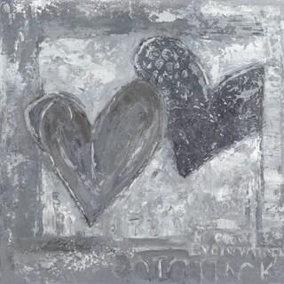 Hobbitholeco 'Two Hearts' 24X24 Wall Art