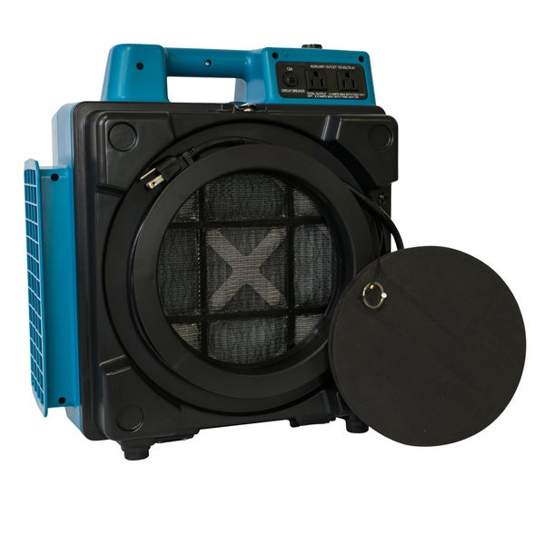 XPOWER X-2480A Commercial 3 Stage Filtration HEPA Purifier System, Negative Air Machine, Mini Air Scrubber with Power Outlets