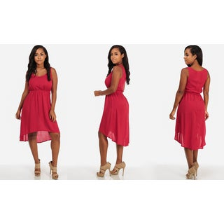 Juniors' Sleeveless High-low Casual Dress