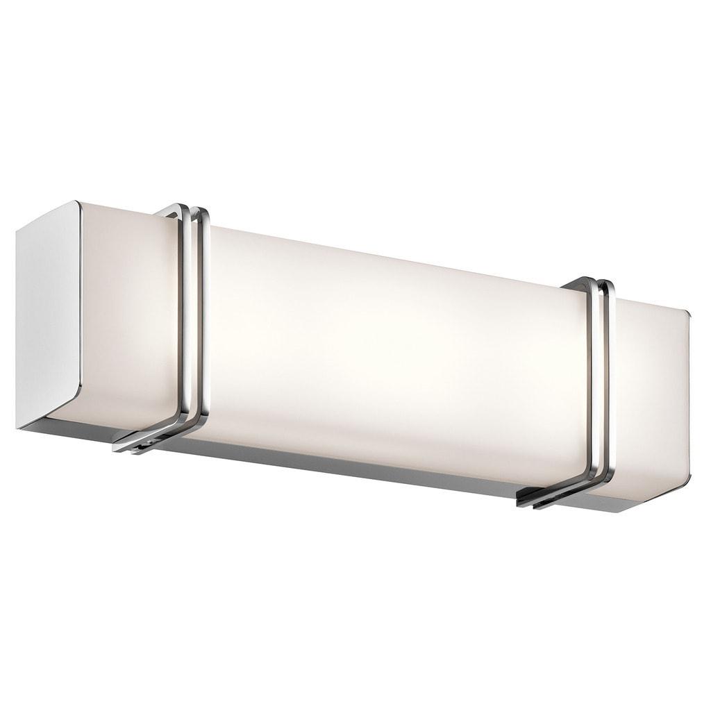 Kichler Lighting Impello Collection 18 Inch Chrome Led Linear Bath Vanity Light Overstock 13468442