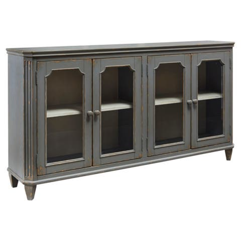 Mirimyn Antique Gray Vintage Accent Cabinet