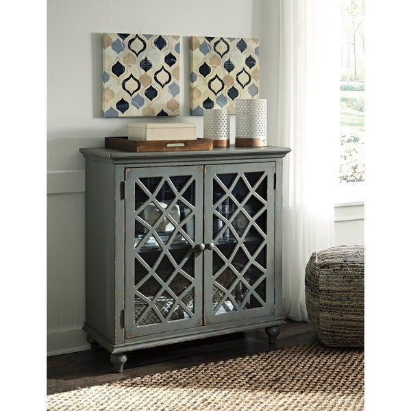 Signature Design by Ashley Mirimyn Antique Gray Accent Cabinet