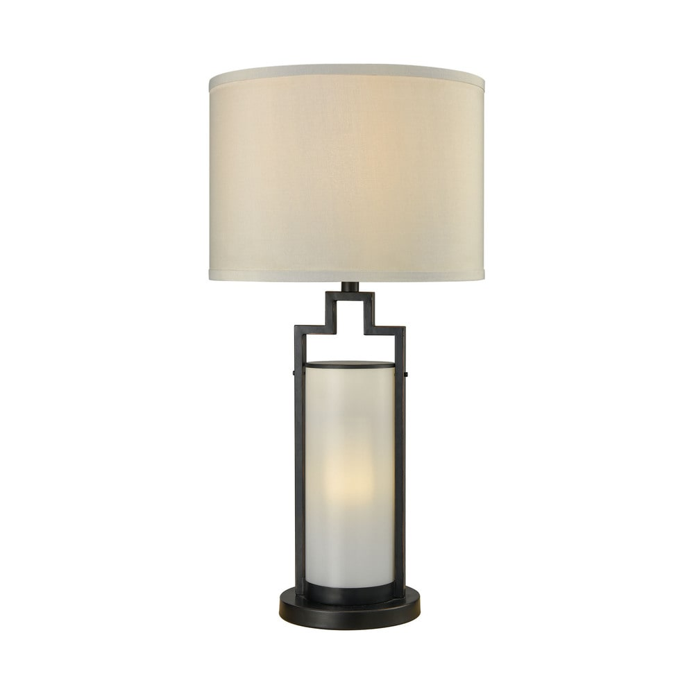 HOME Coral Curved Table Lamp Black
