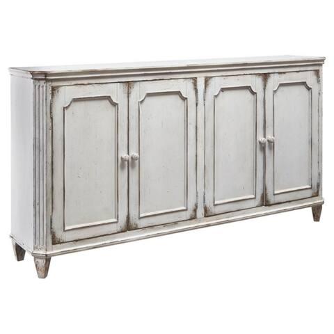 Mirimyn Antique White Vintage Accent Cabinet