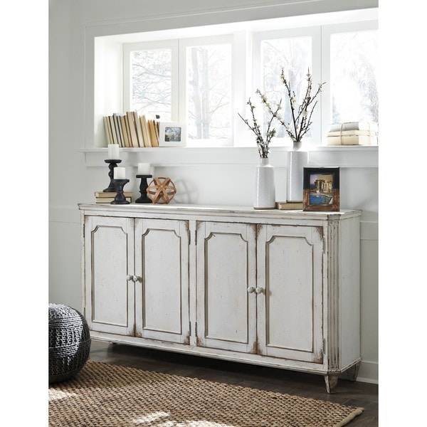 Walentin Accent Cabinet By Ashley Furniture: Signature Design By Ashley Mirimyn Antique White Accent