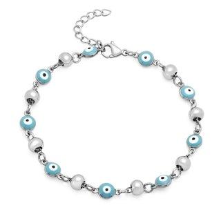 Stainless Steel Blue Evil Eye Bracelet