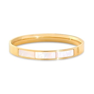 18k Gold Plated Mother of Pearl Bangle