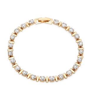 Women's Cubic Zirconia 18k Goldplated Tennis Bracelet