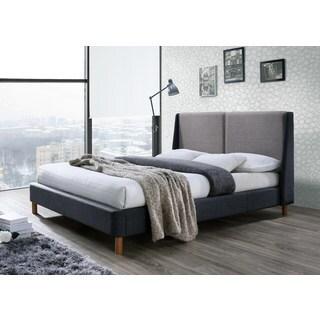 Oliver Grey Upholstered Queen-size Platform Bed