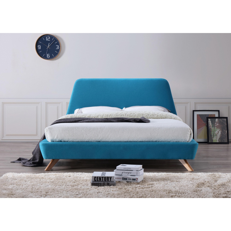 bed studio wood sierra wi century oak modern rain platform brown baxton size mid queen